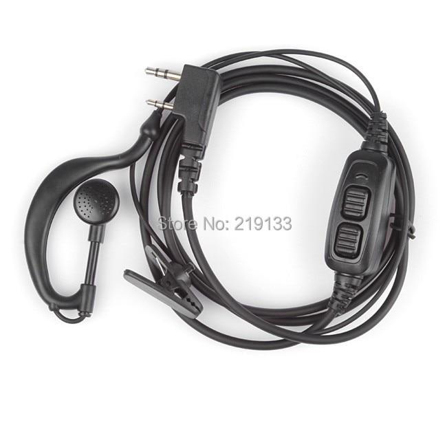 BAOFENG Accessori Originali Dual PTT auricolare auricolare con il mic per Baofeng uv-UV 82 UV82L UV-89 2-way radio
