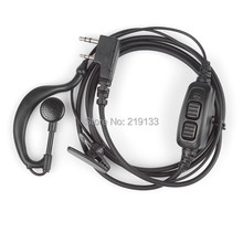 BAOFENG uv-82 accessories original  dual PTT headset earpiece with mic for UV 82 UV82L UV-89 2-way radio
