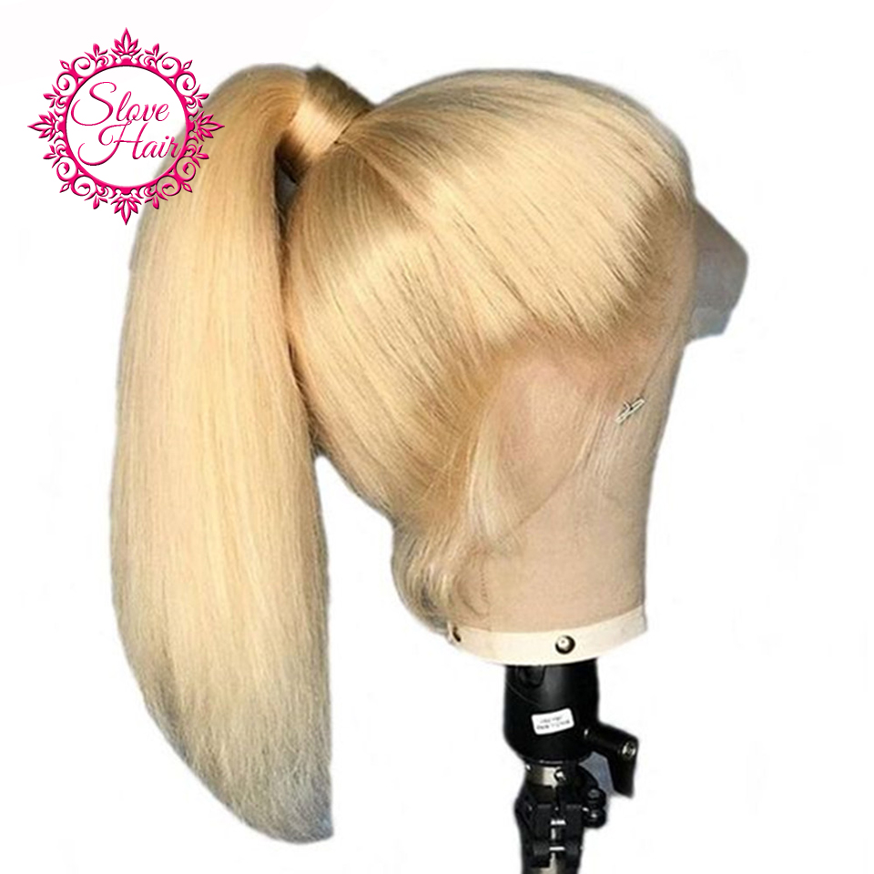 13 4 Lace Front Human Hair Wigs Slove Hair 613 Blonde Straight Brazilian Remy Human Hair