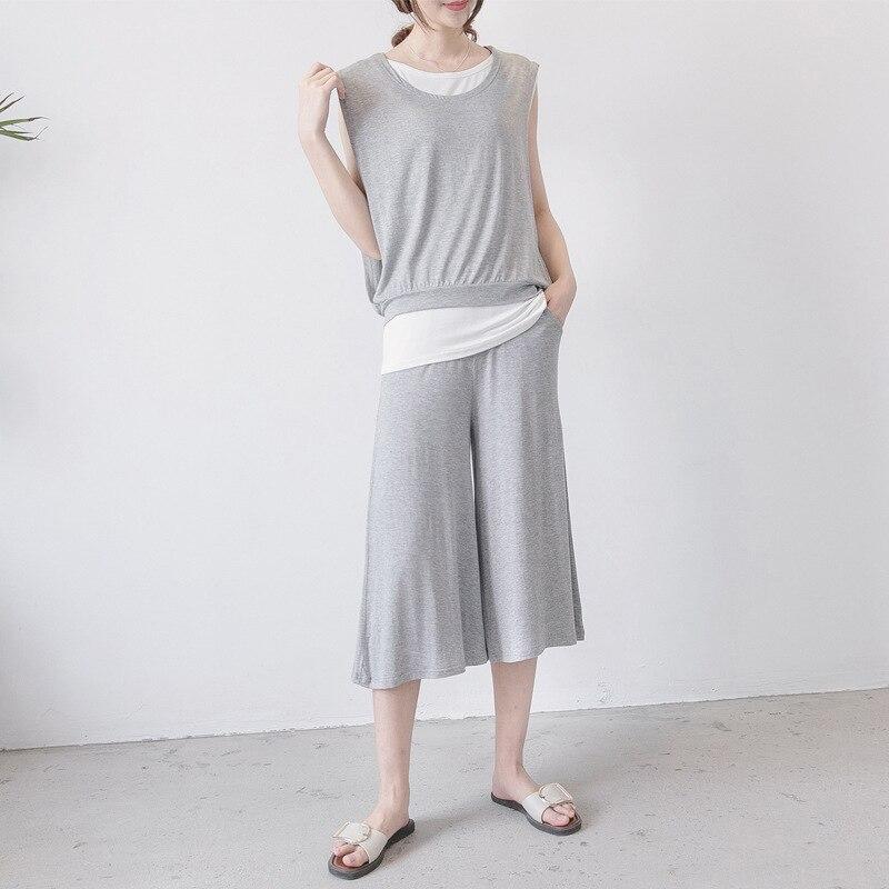 Maternity Sleepwear Summer thin Pregnant Women pajamas postpartum breastfeeding clothing suit modal sleeveless nursing sleepwear