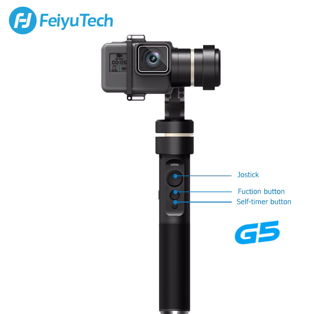 FeiyuTech Feiyu G5 Splash Proof 3-Axis Handheld Gimbal For GoPro HERO 6 5 4 3 3+ Xiaomi yi 4k SJ AEE Action Camera Bluetooth APP feiyutech feiyu spg gimbal 3 axis splash proof handheld gimbal stabilizer for iphone x 8 7 6 plus smartphone gopro action camera