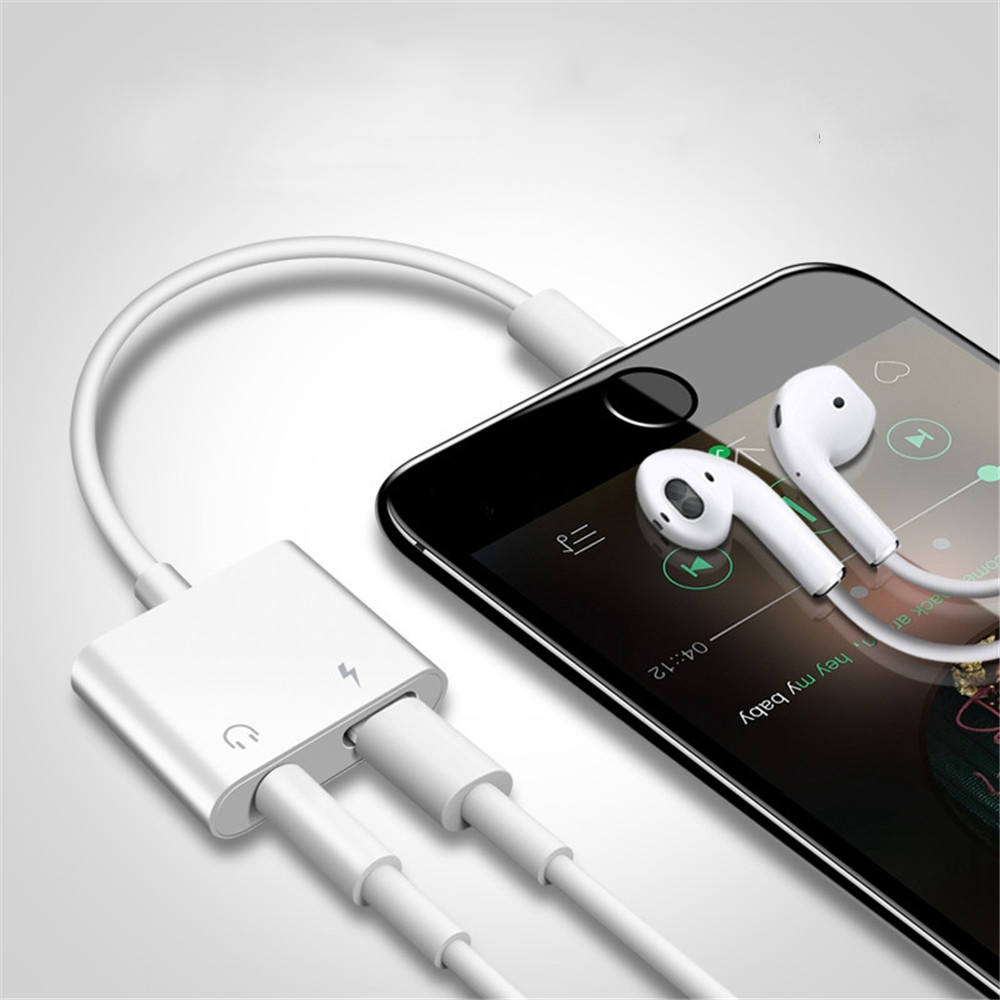 Aux Audio Adapter Converter For IPhone 7 8 Plus X XR XS MAX Charger Charging Adar 3.5mm Jack Headphone Earphone Adpaterpte