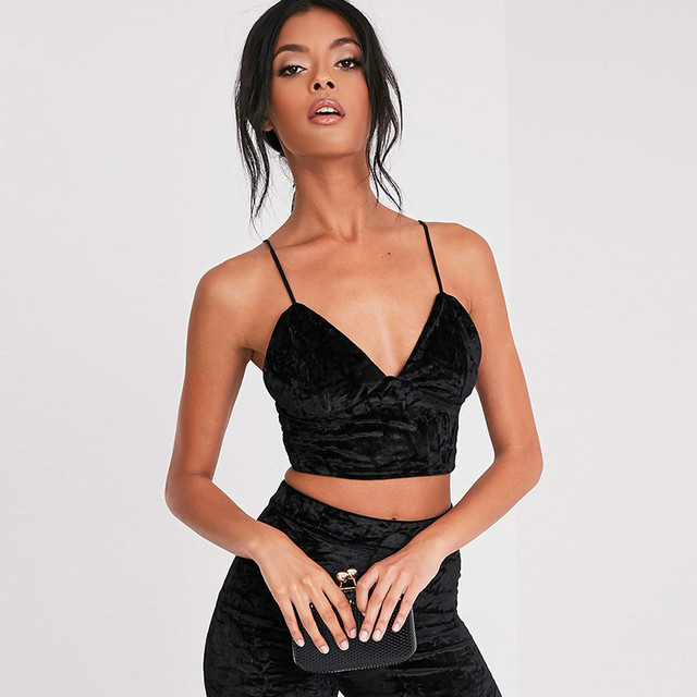 Women Sexy Deep V-neck Spaghetti Strap Velvet Camis Chic Lady Hollow Back Basic Camisole Top Vest Bra Modal Tank Top Female Cami