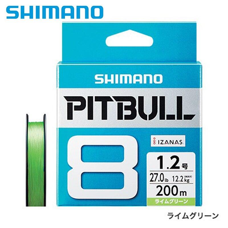 SHIMANO PITBULL 8 Fios linha De Pesca 150 M/200 M Made in Japan Flexível flexibilidade suavidade PE linha de baixo alongamento de fundição isca