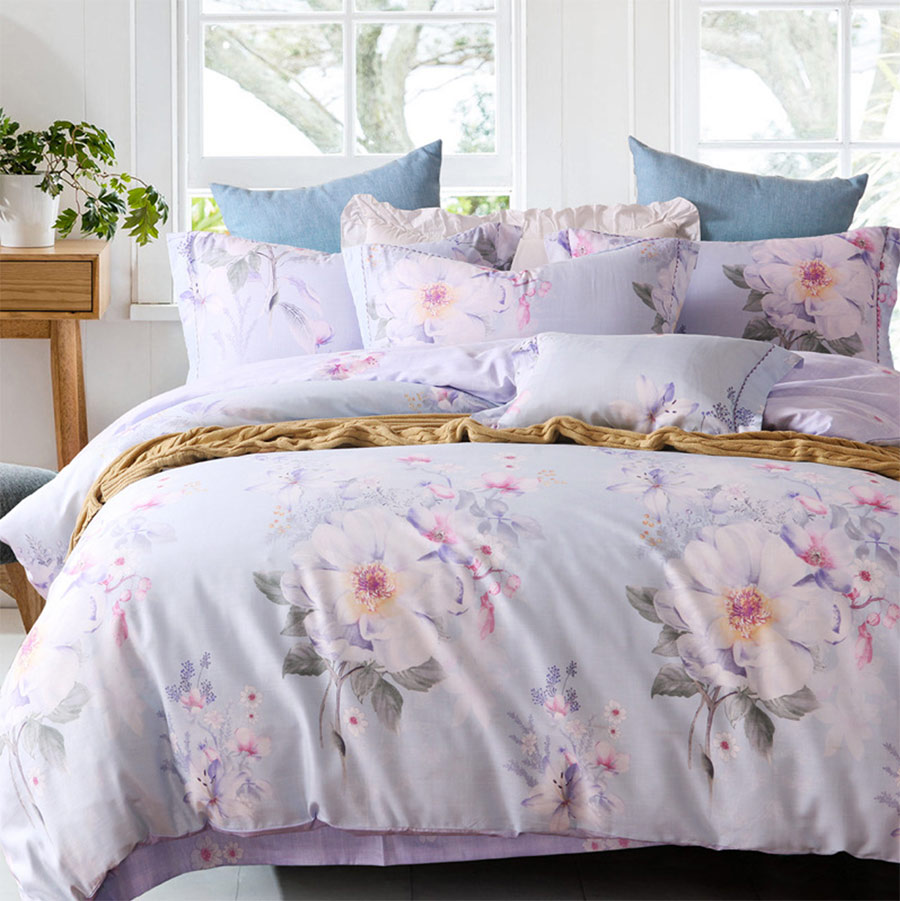 Bed sheet set with quilt - Romantic Plant Bedding Set Adult Teenage Full Queen King American Country Flower Home Textiles Bed Sheet Pillow Case Quilt Cover