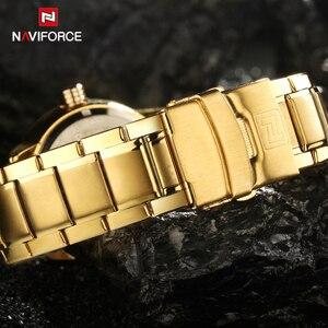 Image 5 - 2017 חדש יוקרה מותג NAVIFORCE שעונים גברים ספורט מלא פלדת קוורץ שעון איש 3ATM עמיד למים שעון היד הצבאי של הגברים שעונים