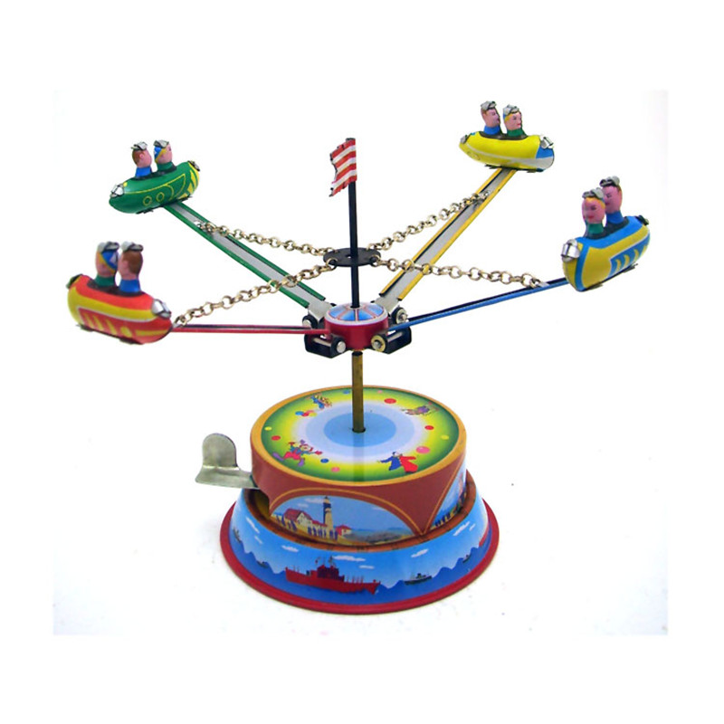 Classic Vintage Clockwork Amusement Park Nostalgic Wind Up Children Kids Tin Toys With Key Fun Toy Gift For Children