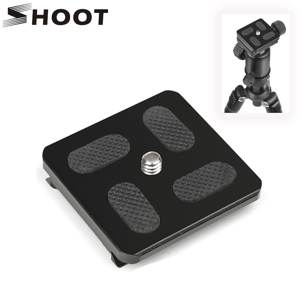 """SHOOT Aluminum Quick Release Plate 1/4"""" Screw Fit for Bogen 3157N Manfrotto 200PL-14 RC2 3030 3130 Arca Swiss Capi Benro Camera"""