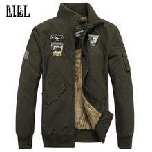 Plus Größe Warmen Dicken Baumwolljacke Wolle Männer Winter Luftwaffe Eine Militärische Mantel männer Mantel Männer Armee Lässig Sportwear, UMA158