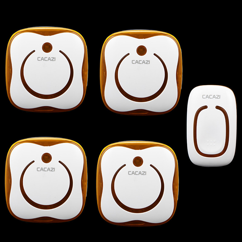 ФОТО Wireless Doorbell Waterproof DC battery 280m remote control Door Bell 1 transmitter+4 receivers
