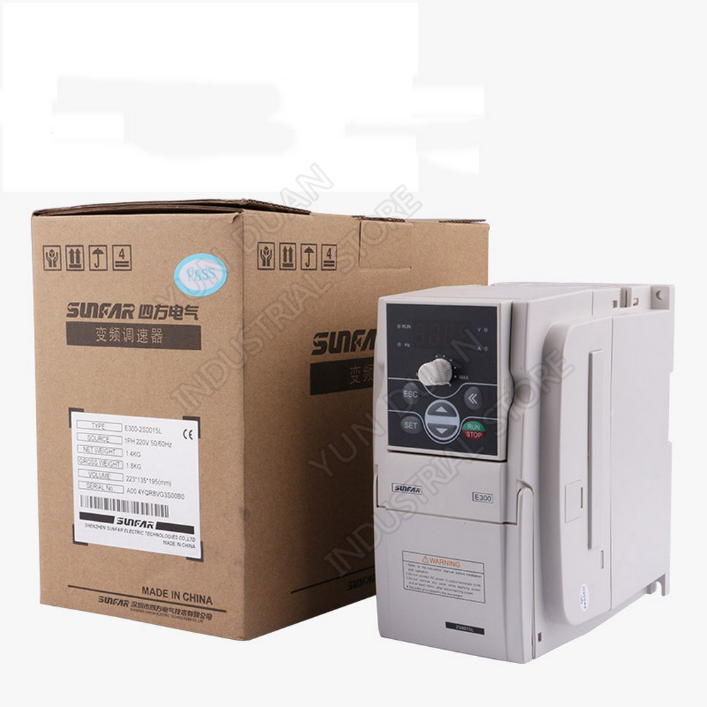 SUNFAR convertisseur de fréquence VFD 3.7KW 3700 W 220 V AC 1000Hz VVV/F SVC pour routeur gravure broche moteur régulateur de vitesse
