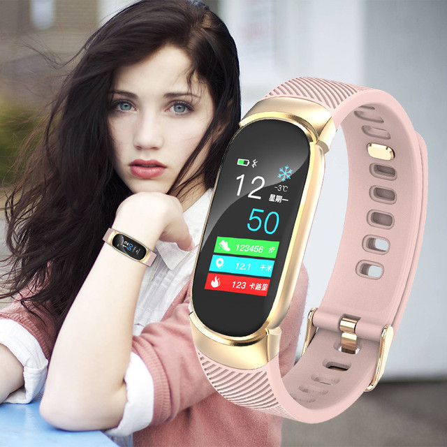 Schnoah Women Sport Smart Watch Men LED Waterproof SmartWatch Heart Rate Blood Pressure Pedometer Watch Clock For Android iOS