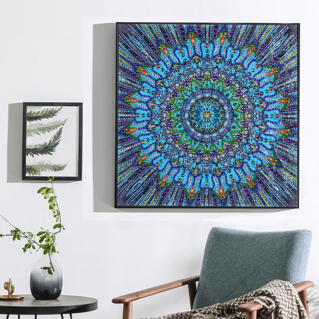 Special Shape Diamond Painting Mandala Flower Modern Pattern DIY 5D Part Drill Cross Stitch Kit Crystal Art Home Decoration in Diamond Painting Cross Stitch from Home Garden