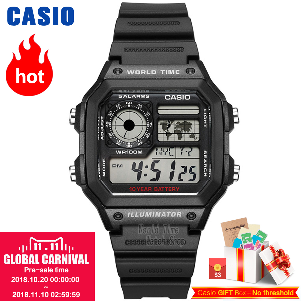 Casio watch Analogue Men's quartz sports watch Casual trend student watch AE-1300 AE-1200 casio ae 1200whd 1a