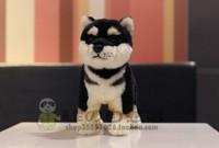 Free shipping 30cm Black firewood dog doll firewood dog plush toys plush toys simulation doll for christmas gift