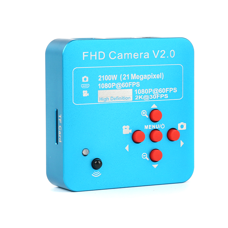 8G TF card 21MP Full HD 1080P 60FPS 2K 2100W HDMI USB Industrial Electronic Digital Video Microscope Camera For Phone repair
