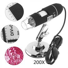 On sale New Portable 200X USB Adjustable Handheld Digital Microscope with Stand and 8 LED Light for Windows 2000 / 2003 / XP / 7 / 8
