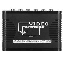 Olsentech HZ912 Ypbpr + דיגיטלי קואקסיאלי אודיו כדי HDMI + סטריאו אודיו החוצה HD Ypbpr רכיב כדי HDMI ממיר עם כוח מתאם