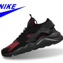 4aed0007925c Original New Arrival Official Nike Air Huarache Run Ultra Men s Black Red  Running Shoes Sneakers 753889