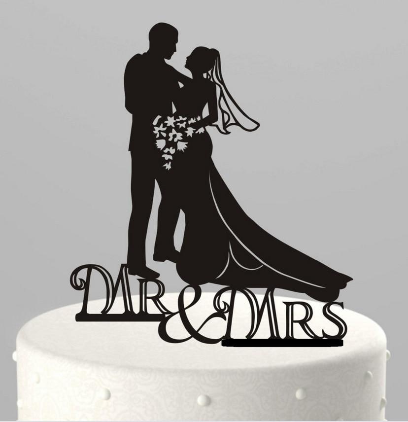 Decoraciones para bodas Acrílico Novia y novio Mr & Mrs Cake - Para fiestas y celebraciones