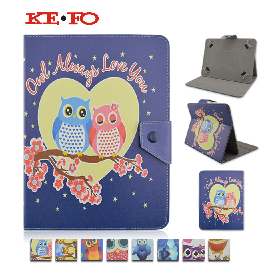 Universal 7 inch Cover Case OWL Series Flip PU Leather Case For BQ 7002G 7.0 Tablet