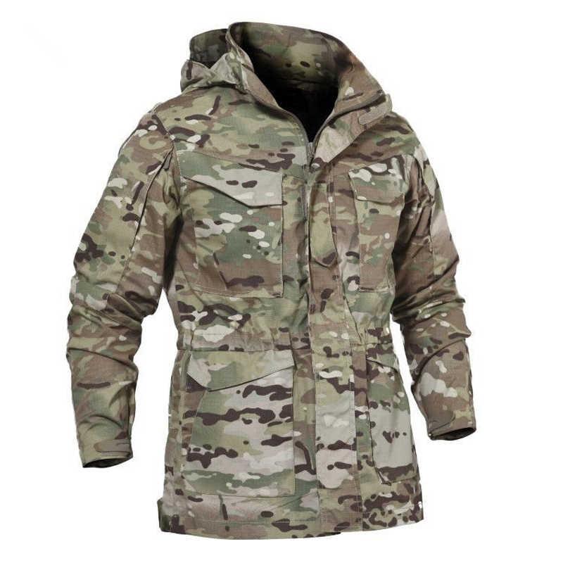 aefe7b3451933 M65 UK US Army Tactical Jacket Casual Windbreaker Men Winter Autumn  Waterproof Flight Pilot Coat Hoodie