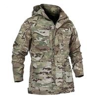 M65 UK US Army Tactical Jacket Casual Windbreaker Men Winter Autumn Waterproof Flight Pilot Coat Hoodie Military Field Jacket
