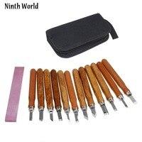 Ninth World Wood Handle 13pcs Scalpel Tools Wood Carving Tools Set Cutter Woodcut Knife Hand Tool Kit
