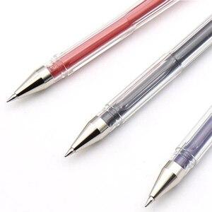 Image 5 - 10 Pcs/Lot Uni ball Signo Dx Um 100 Gel Ink Pen 0.5 mm Uni Mitsubishi  Black/Blue/Red
