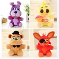 free shipping Five Nights At Freddy's 4 FNAF Freddy Fazbear Bear Foxy Plush stuffed Toys baby gift bag packaging
