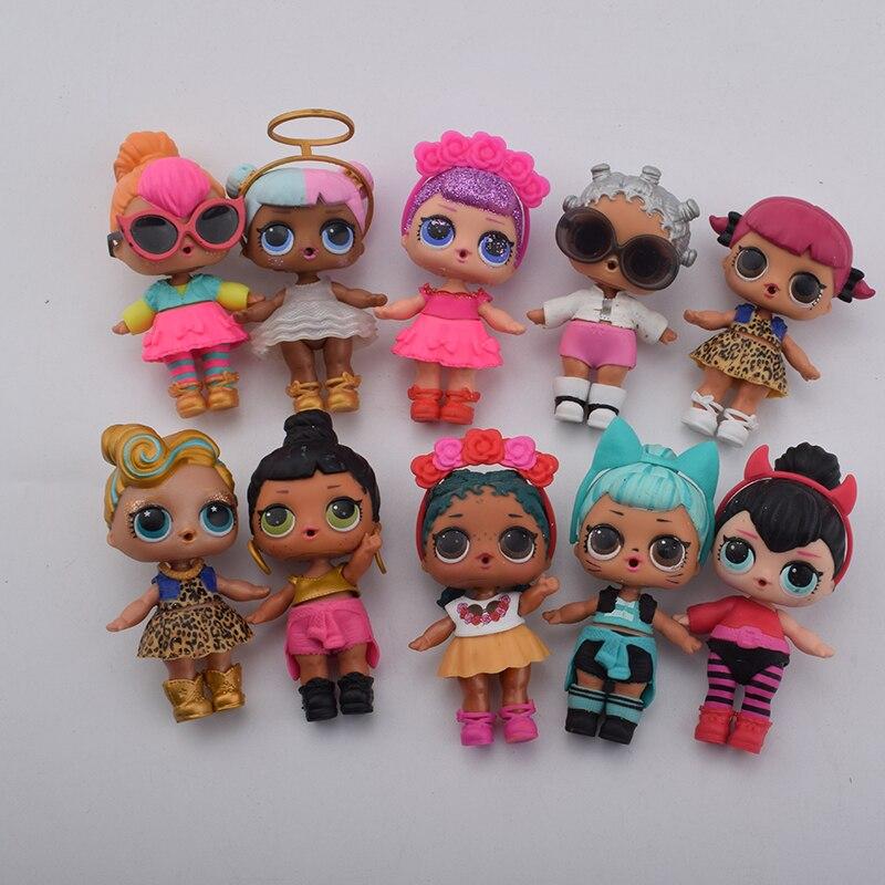 En plastique poupée série 2 habiller poupée avec des vêtements accessoires bouteille sans balle
