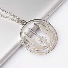 European Style Movie Star Wars Series Return Of The Jedi Necklace Bright Silver Pendant Necklece for Mather's Day