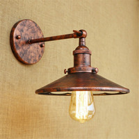 Loft Style Iron Mirror Retro Lamp Wall Sconce Edison Industrial Vintage LED Wall Light Fixtures Indoor Lighting Wandlamp