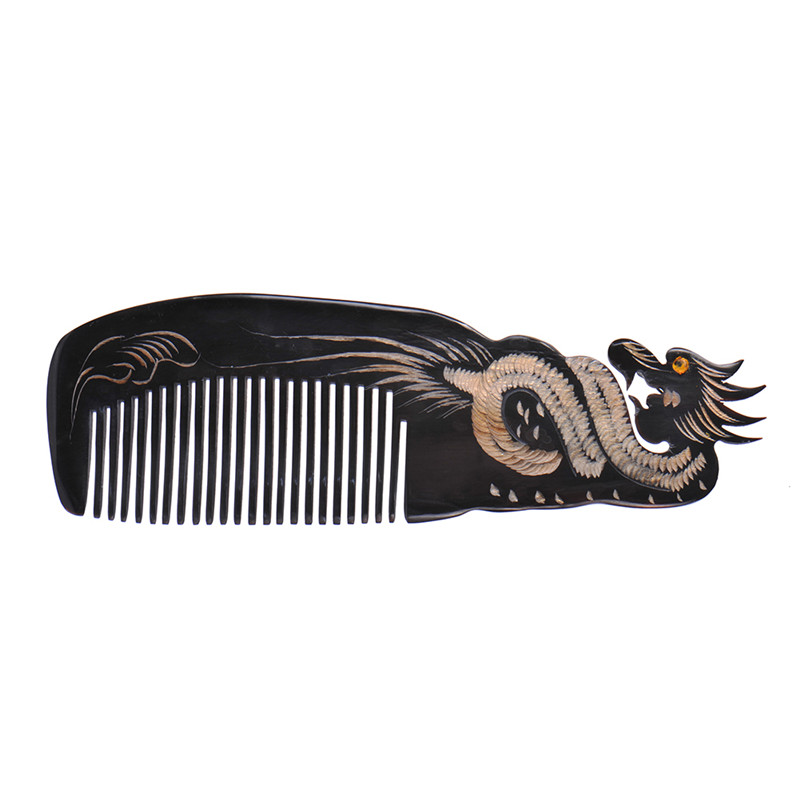 100% High Quality Art Delicate Upscale Natural Massage Hair Combs Healthy Hairbrush Natural OX Horn Escova de Cabelo Comb