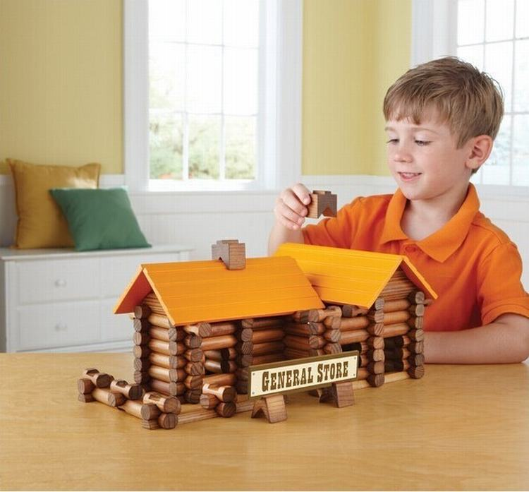 165PCS/Set Built The Cabin Wood Log Set Wooden Toy Baby Early Educational Toys Creative Building Blocks With Legoed цена