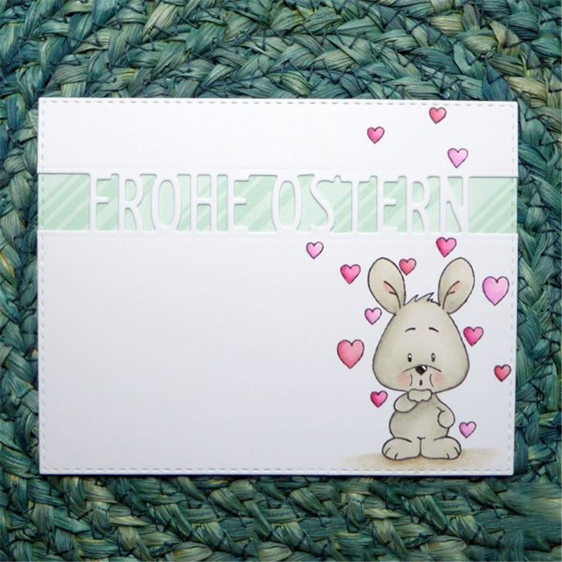 German Alphabet Die Letter Metal Cutting Dies for DIY Scrapbooking Decorative Craft Paper Cards Making Alles Liebe