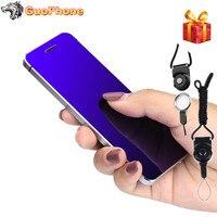 ULCOOL V36 Phone With Super Mini Ultrathin Card Metal Body Bluetooth 2.0 Dialer Anti lost FM MP3 Dual SIM Card Mini Phone