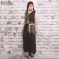 ZANZEA Mujeres Ocasionales Flojos de La Vendimia de gran tamaño 2016 Verano Vestido Sexy Sin Mangas de Empalme Ropa de Algodón Largo Vestido Vestidos Tallas grandes