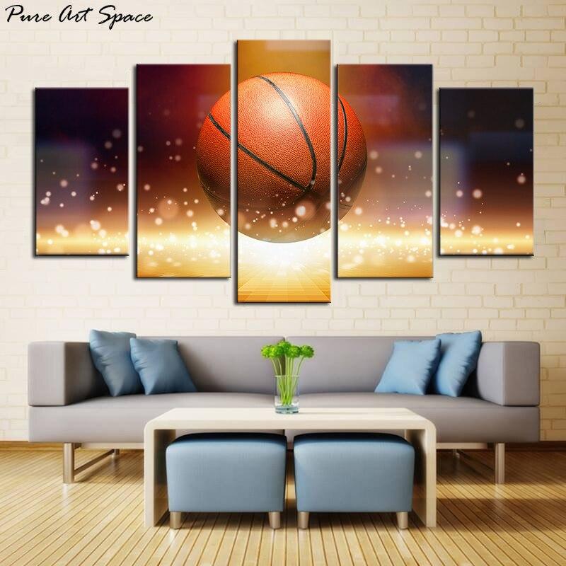 Basketball Sports Canvas Wall Art For Boys Bedroom Decor: Large Basketball Sports Canvas Wall Art Boys Bedroom Decor