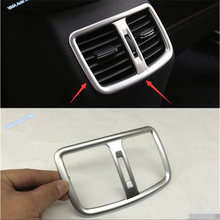 цена на Lapetus Car Styling Rear Seat Air Conditioner AC Outlet Vent Frame Cover Trim Fit For Hyundai Tucson 2016 2017 2018 ABS Interior