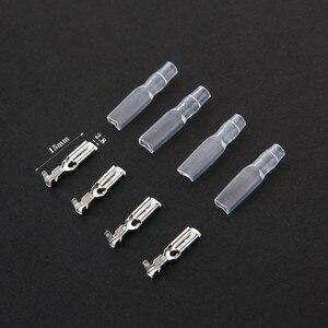 50 zestawów 2.8mm z przezroczysta powłoka włożona sprężyna 2.8mm złącze żeńskie złącze Faston z izolatorem do drutu