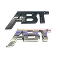 1 шт. блестящий черный стикер ABT эмблема лучшее качество АБС пластик для авто кузова боковой багажник наклейки для крышки значок хром серебр...