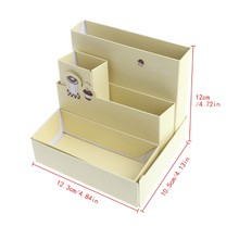 Paper Board Organise Box Desk Decor Stationery Makeup Cosmetic Case Organizer DIY Storage box Brand New(China)