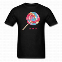 Cute Lollipop T Shirt Tops Brand Clothing Street Style Summer Fashion Cotton O Neck Shirts Hip