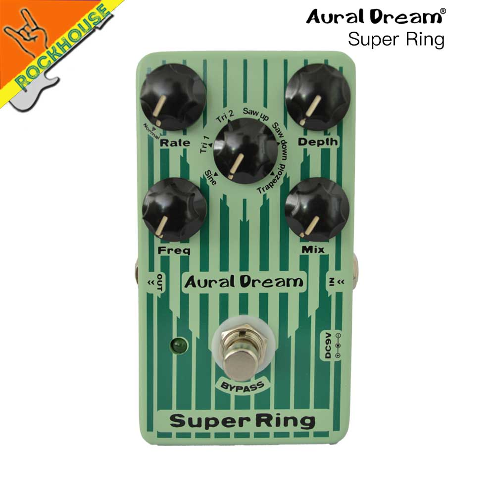 Auraldream Super Ring Guitar Effects Pedal Digital Ring Simulator Guitarra Pedal 6 models with Vibrato True Bypass Free Shipping mooer ensemble queen bass chorus effect pedal mini guitar effects true bypass with free connector and footswitch topper