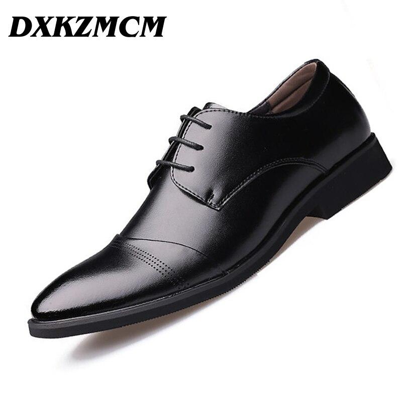 DXKZMCM Handmade Men Flats Men genuine leather shoes men wedding oxford business dress shoes стоимость