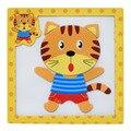 15*15*0.5 cm Dos Desenhos Animados Animais Veículo De Madeira 3D Puzzles Educação Puzzles Brinquedos Educativos Magnético & Hobbies. PY042