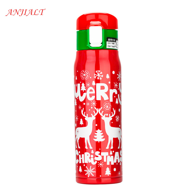 500ml Thermoes Christmas Style Thermocup Stainless Steel Thermos Tea Cup Coffee Mug Vacuum Flasks Tumbler Bottle Garrafa Termica