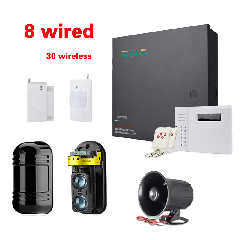 Wall protection Alarm family of peripheral protection Engineering alarm 8 wired zones hard wire Landline alarm system