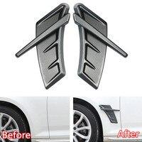 2Pcs/set ABS Carbon Fiber Car Accessories For Audi RS A3 A4L A6L A5 Q3 Q5 Q7 Car Fender Side Wing Stickers Air Vent Cover Trim